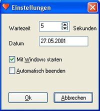 Screenshot JLSoft Beziehungscounter